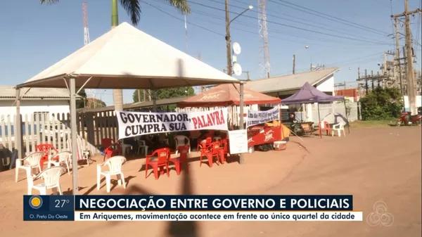 Com protesto fechando quartéis, PM's seguem alojados dentro dos batalhões em cidades de RO