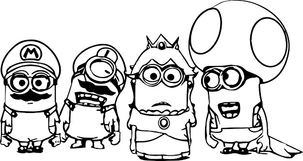 Best Free Minion Coloring Pages Drawing