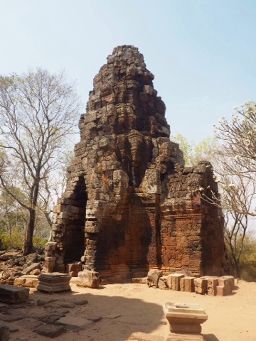 Ruins of Phnom Banan temple to the south of Battambang, Cambodia