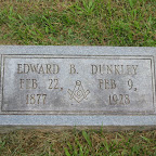 Edward B. Dunkley Husband of Jessie Lillian Gleaves The Gleaves Family Cemetery Cripple Creek, Wythe County, Virginia