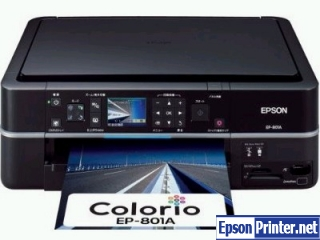 How to reset Epson EP-801A with software