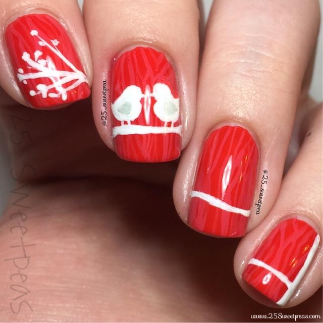 Love Bird Nail Art