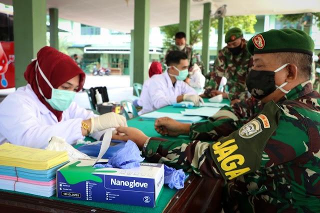 Stok Darah Menipis, Kodim 0104/Atim Sumbang Darah 69 Kantong