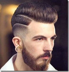 Fade Haircut High Low Fade with Pompadour