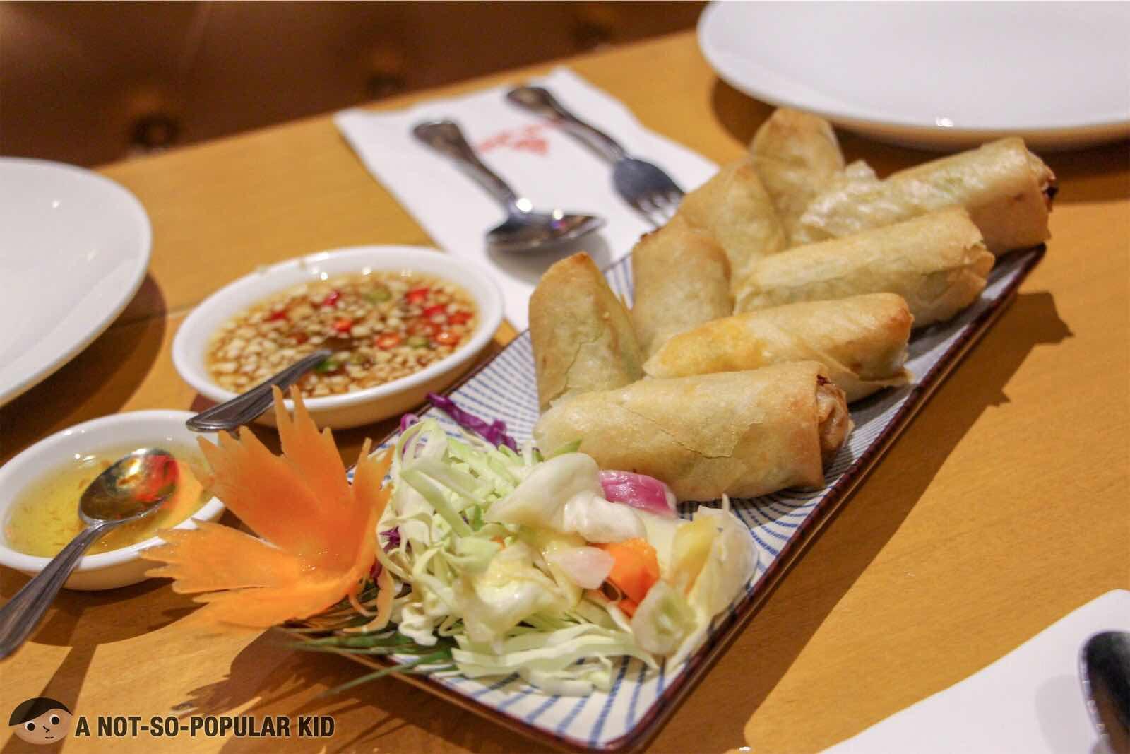 Spring Rolls of Thai BBQ in Glorietta