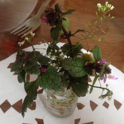 Selbstgepflückte Blumen