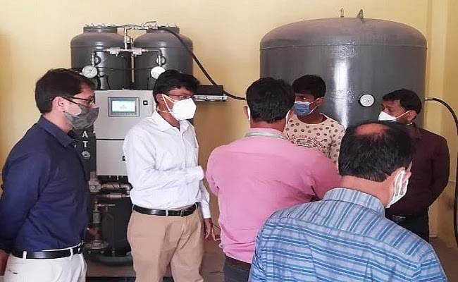 खुशखबरी: बिहार के दरभंगा मेडिकल कॉलेज ने DMCH में ऑक्सीजन गैस प्लांट चालू किया.