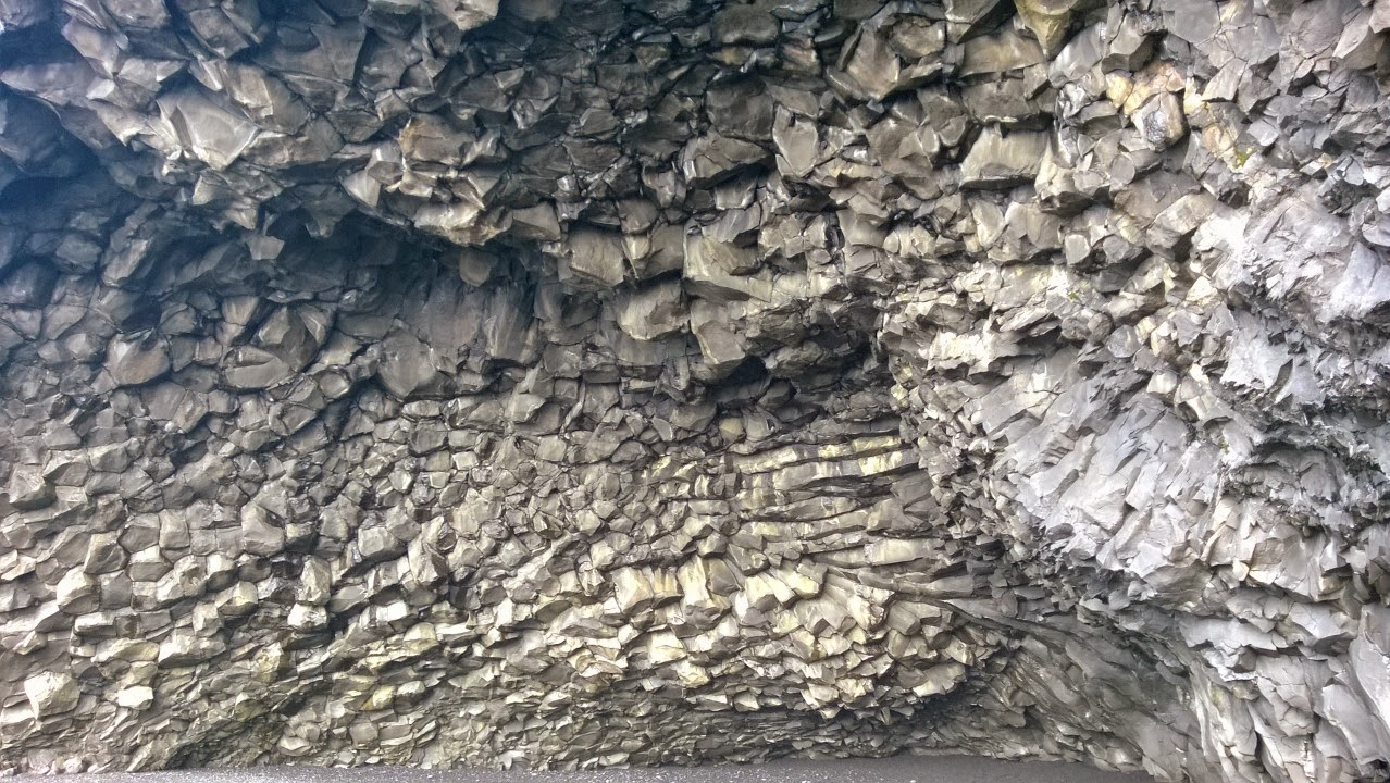 Interior of cave in Reynishverfi beach.