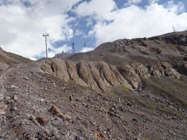 Sur l'Elbruz à 3000 m (Terskol, Kabardino-Balkarie), 13 août 2014. Photo : J. Marquet