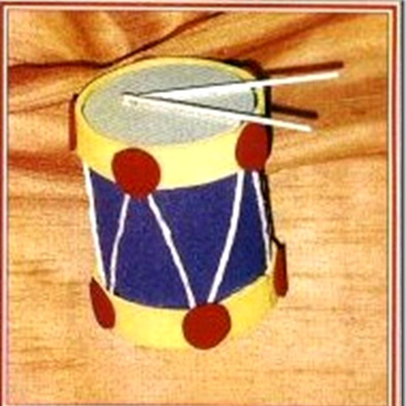 Manualidades tambor de lata reciclada