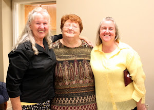 Momma Templet and Ann with their neighbor and friend, Mabel McIntosh.