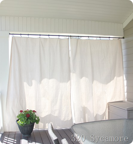 outdoor curtains diy