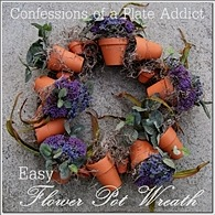 CONFESSIONS OF A PLATE ADDICT Easy Flower Pot Wreath