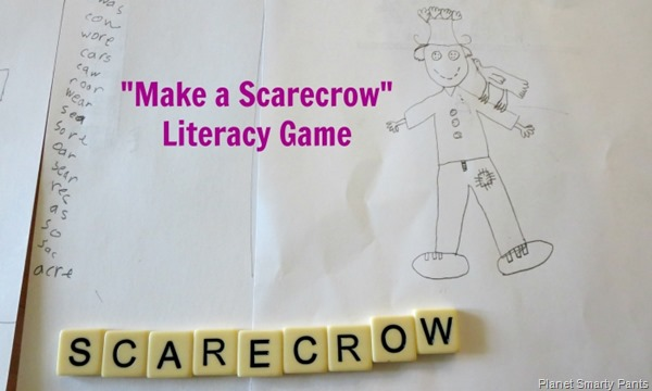 Make a Scarecrow: Vocabulary, Spelling, and Drawing Game