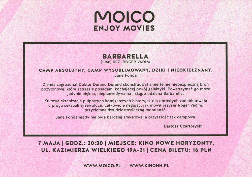 Ulotka filmu 'Barbarella (tył)'