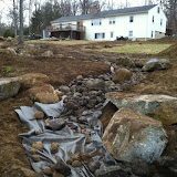 Building a Dry Stream Bed