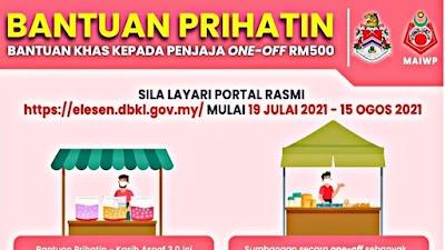 Bantuan Prihatin – Kasih Asnaf 3.0: Bantuan RM500 One-off Untuk Penjaja