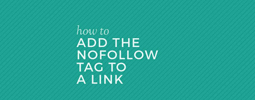 How to add a nofollow attribute tag to a link