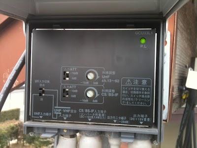 DXアンテナのGCU33L1のフタを開けたところ
