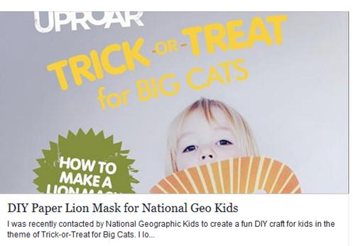 Manualidades para niños, máscara de león