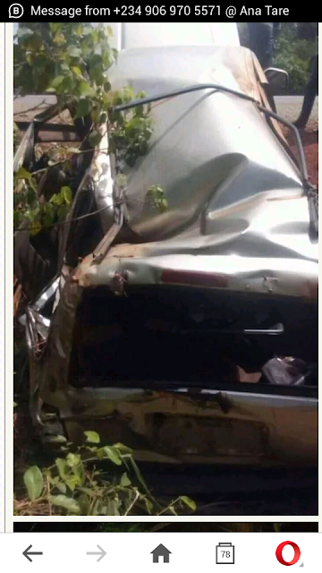 Lady Excited After Coming Out Of This Horrible Accident Without Any Injury. PICS