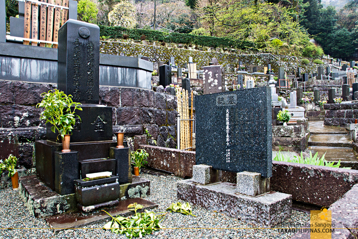 Cemetery at Shōgen-ji Temple in Hakone, Japan