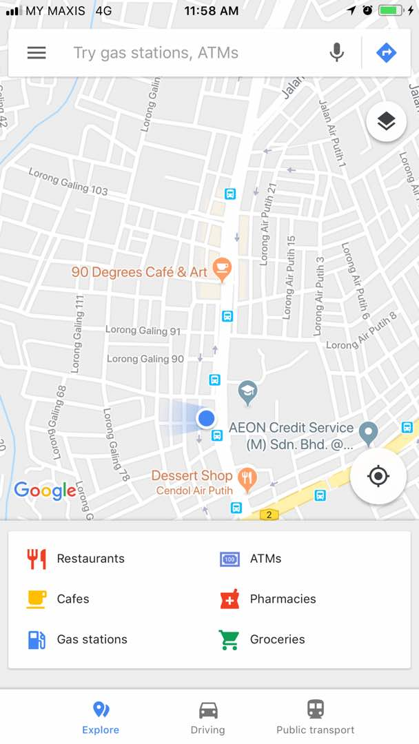 My business places all do not show in Google Maps Nearby
