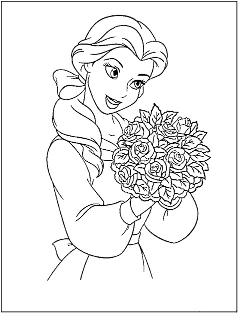 Princess Coloring Pages Printable  Disney Princess Coloring Pages  Free  Printable