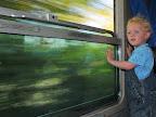 Karl on Train from Tivoli to Avezzano, Italy