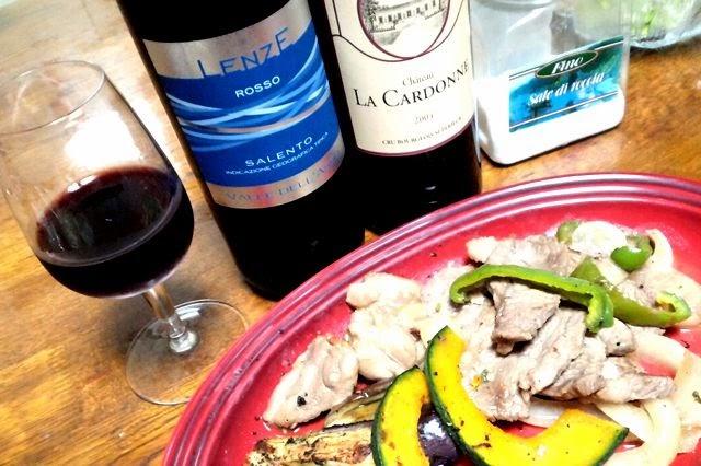 焼肉鳥肉とオススメ赤ワイン