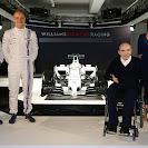 Williams Martini FW36 with Felipe Massa, Valtteri Bottas, Sir Frank Williams and Claire Williams