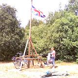 Engelse vlag in top
