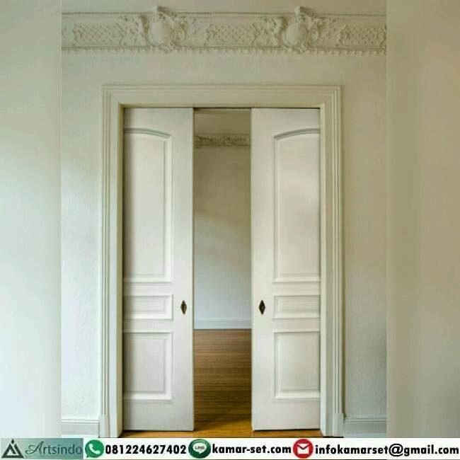 model pintu geser cantik sederhana