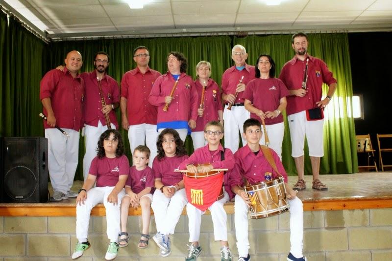 Audició Escola de Gralles i Tabals dels Castellers de Lleida a Alfés  22-06-14 - IMG_2411.JPG