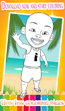 Coloring Pages For Upin And Ros His Friends Poster