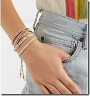 Chan Luu Swarovski crystal wrap bracelet on model