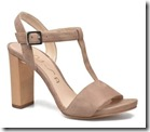 Unisa Beige Suede Sandals with High Block Heel