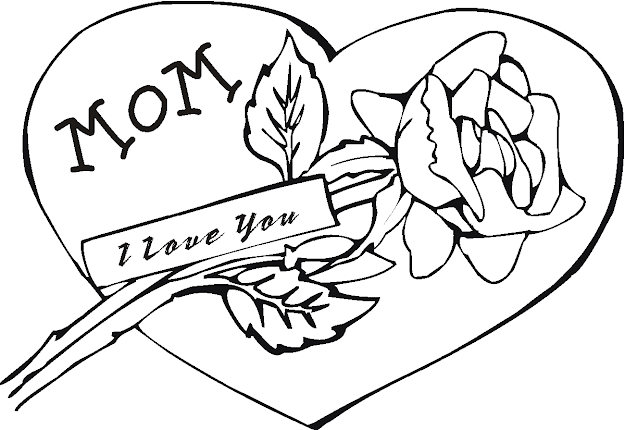 Love You Mom Coloring Page Mom Coloring Pages