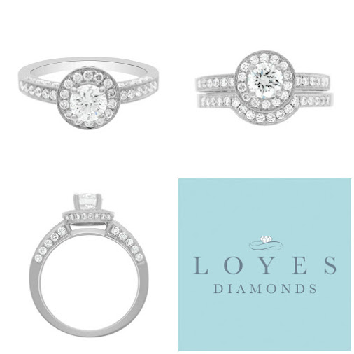 Wonderful Engagement Ring With Diamond Encrusted Side Stones and Halo And Side Wall. More info on https...