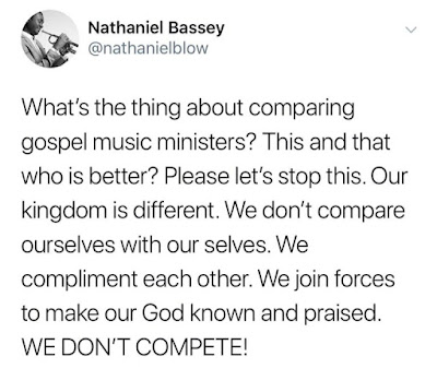 Stop Comparing Gospel Music Ministers (Nathaniel Bassey)
