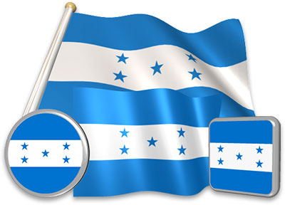 Honduran flag animated gif collection