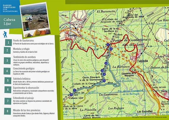 Ruta Cabeza Lijar, desde el Alto del León - Pincha en la imagen para ampliar