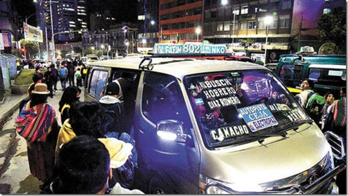 Transporte público a El Alto