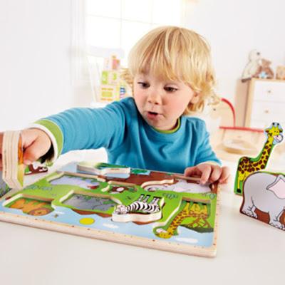Đồ chơi Ghép hình Động vật Hoang dã Hape Wild Animals