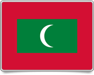 Maldivian framed flag icons with box shadow