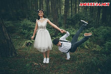 Ảnh cưới nhắng nhít của cặp đôi 9X yêu hiphop