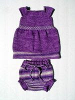 *Sale* Femme Violette Dress and Soaker Set 12mo+
