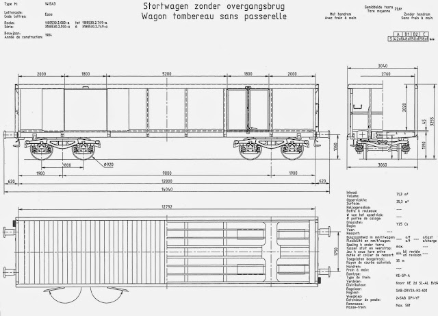 Eaos 1415A3 1984 (2) Stortwagen zonder overgangsbrug
