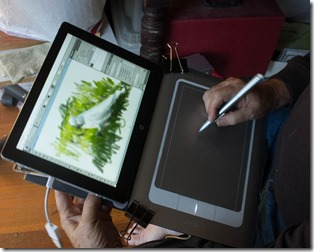 Tablet with Wacom Bamboo attached