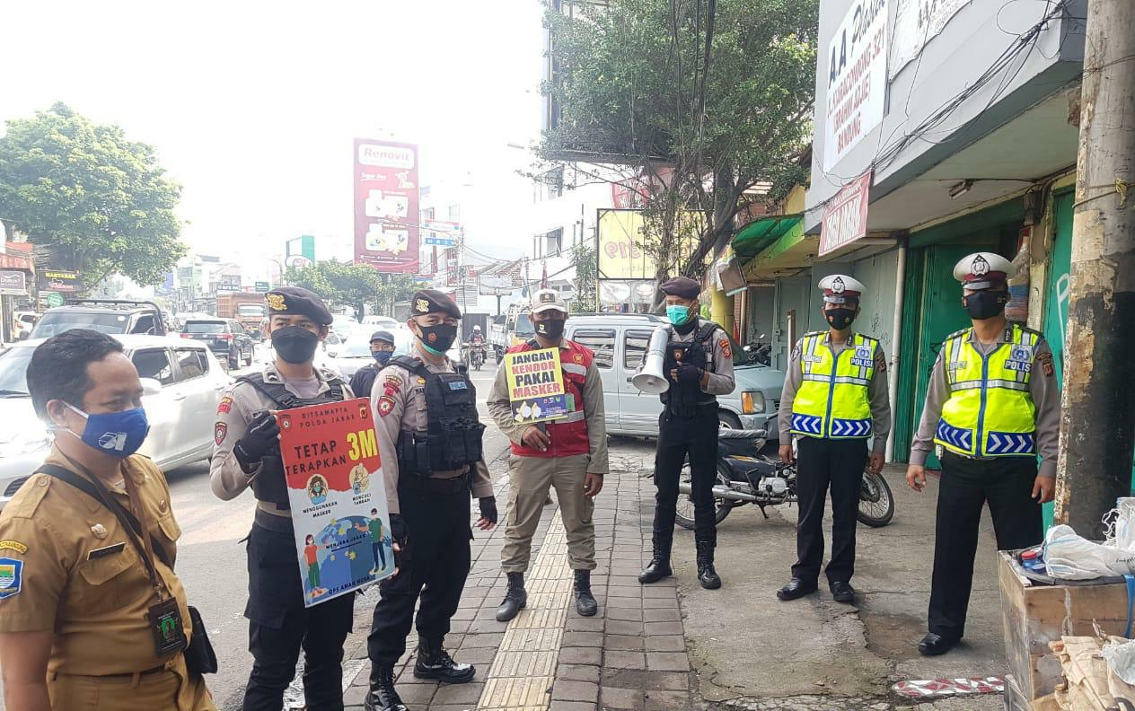 Ops AMAN Nusa Direktorat Samapta Polda Jabar Gencar Laksanakan Himbauan PPKM